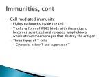 immunities cont