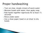 proper handwashing