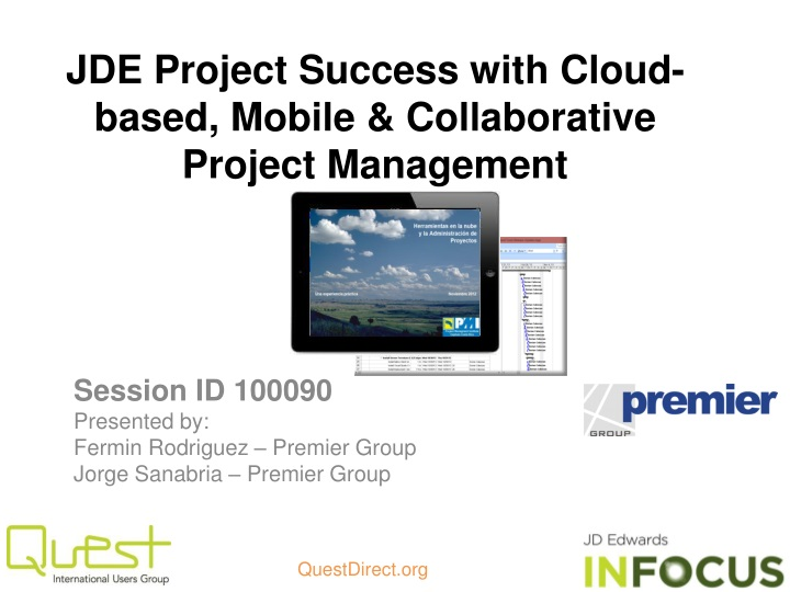Jde project success with cloud based mobile collaborative project management