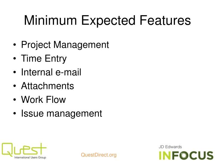 Minimum Expected