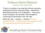 professor martin skitmore school of urban design qut