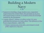 building a modern navy