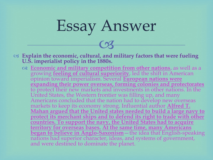 Essay Answer