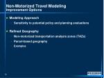 non motorized travel modeling improvement options