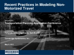 recent practices in modeling non motorized travel