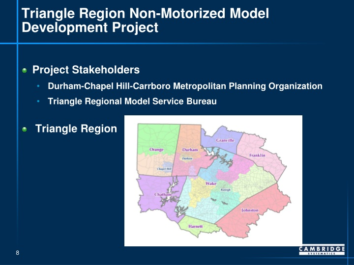 Triangle Region Non-Motorized Model Development Project