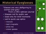 historical eyeglasses