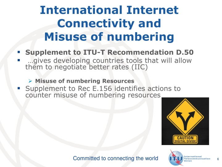 International Internet Connectivity and