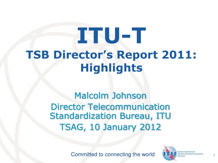 Itu t tsb director s report 2011 highlights