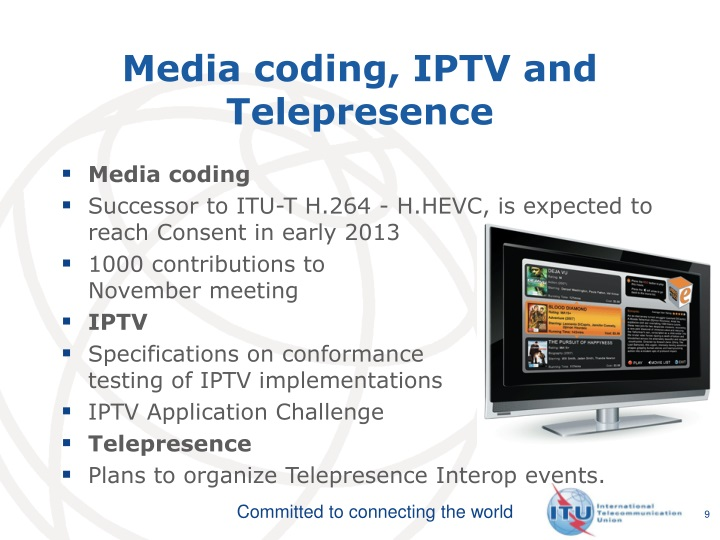Media coding, IPTV and