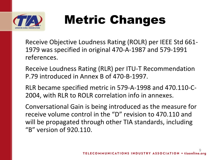 Metric Changes