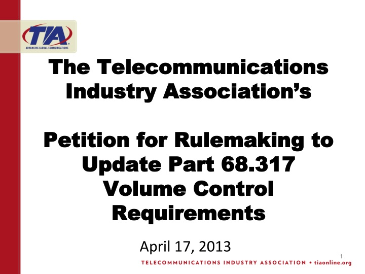 The Telecommunications Industry Association's