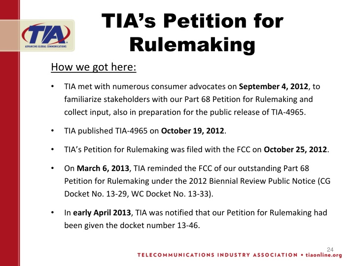 TIA's Petition for Rulemaking