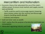 mercantilism and nationalism1