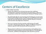 centers of excellence