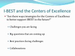 i best and the centers of excellence
