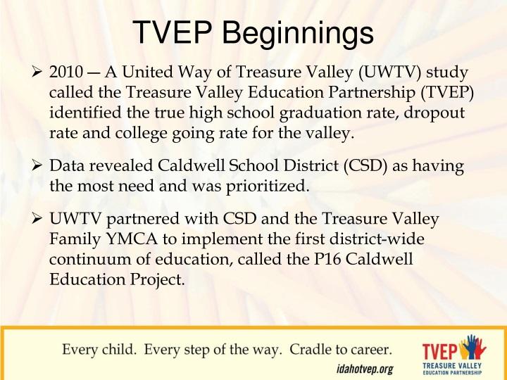 TVEP Beginnings