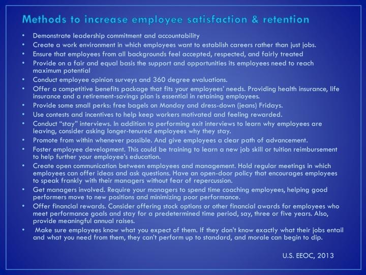 Methods to increase employee