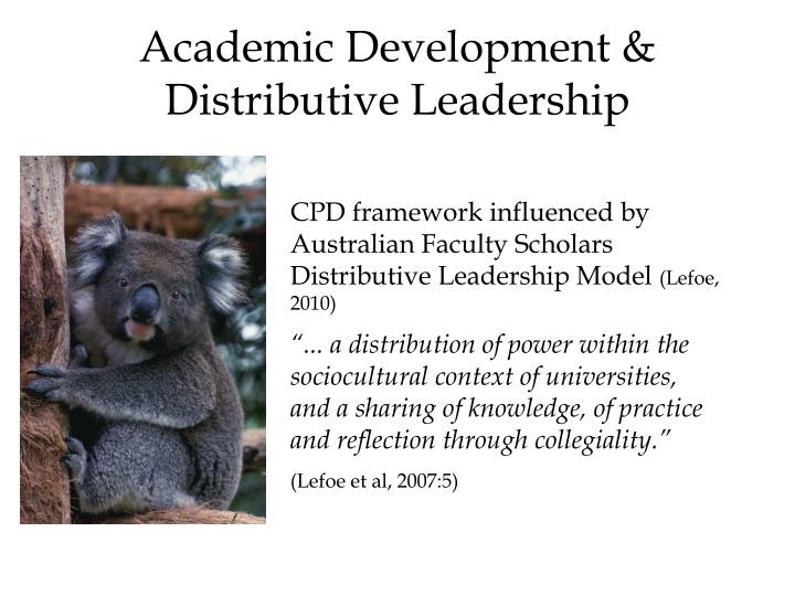 Academic Development & Distributive Leadership