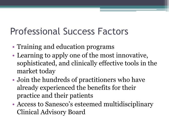 Professional Success Factors