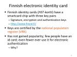 finnish electronic identity card