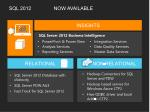sql 2012 now available