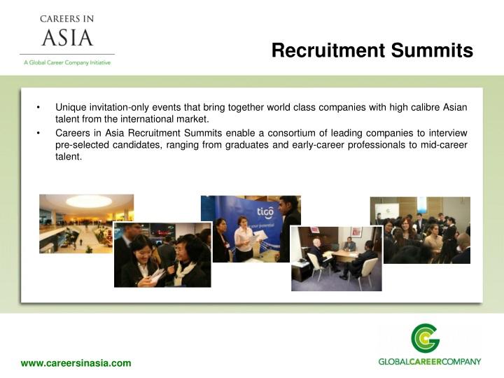 Recruitment Summits