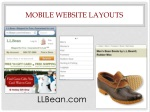 mobile website layouts