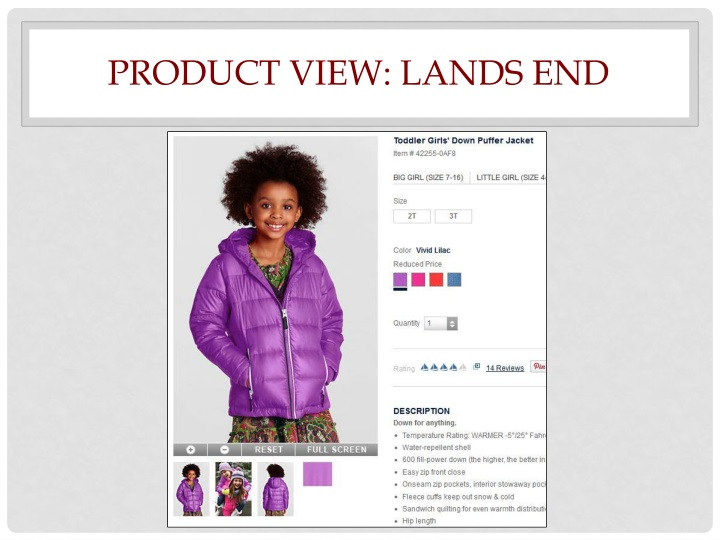 Product View: Lands End