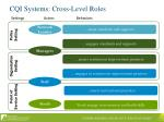 cqi systems cross level roles
