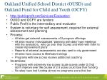 oakland unified school district ousd and oakland fund for child and youth ocfy