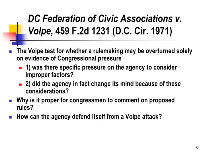 DC Federation of Civic Associations v. Volpe