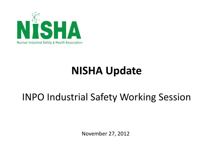 Nisha update inpo industrial safety working session