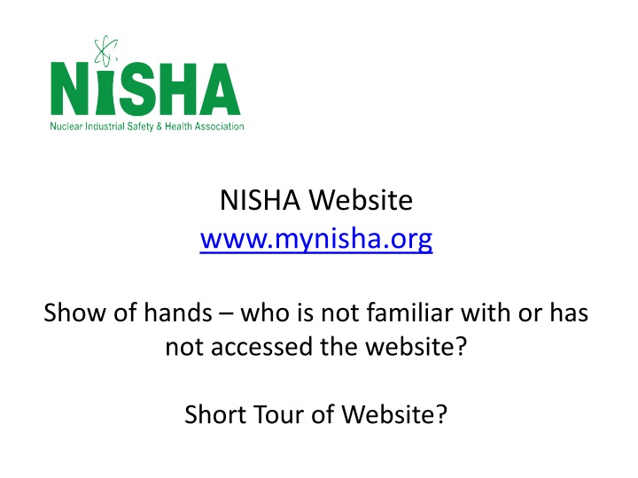 NISHA Website