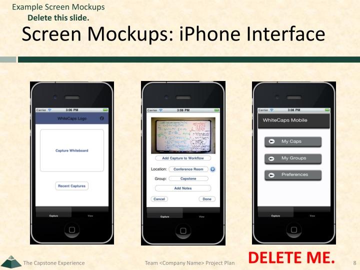 Example Screen Mockups
