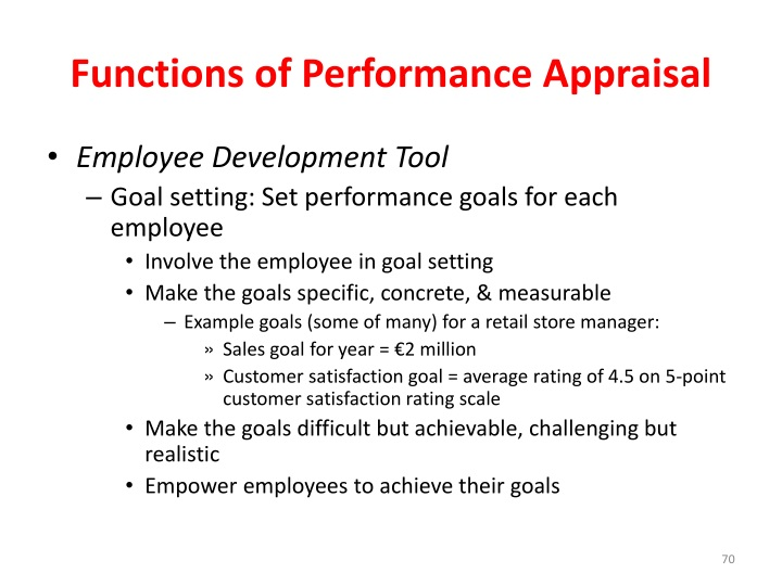 Functions of Performance Appraisal