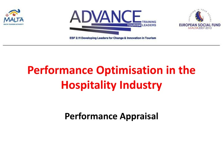 Performance Optimisation in the Hospitality Industry