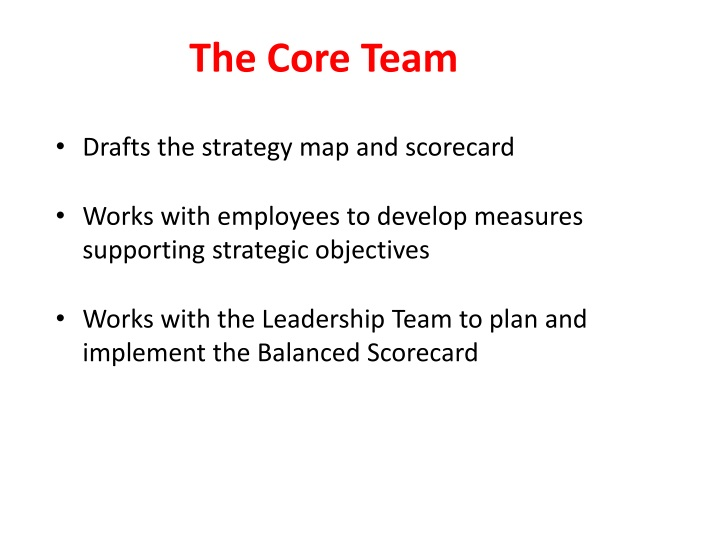 The Core Team