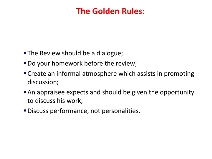 The Golden Rules: