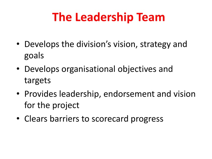 The Leadership Team
