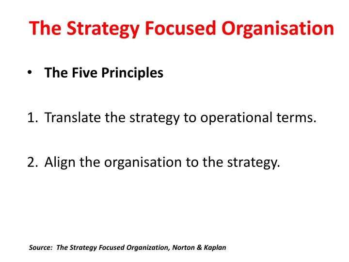 The Strategy Focused