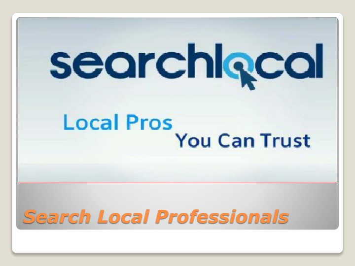 Search Local Professionals