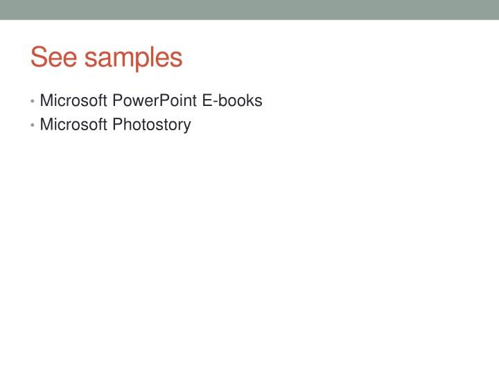 See samples