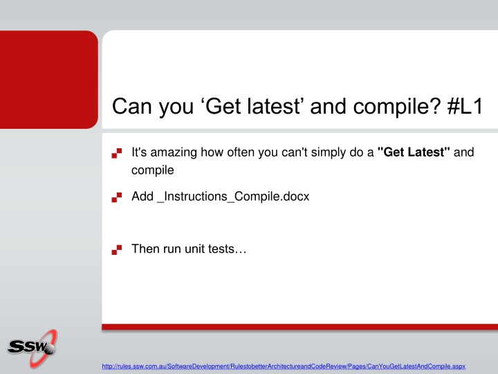 Can you 'Get latest' and compile? #L1