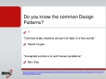do you know the common design patterns