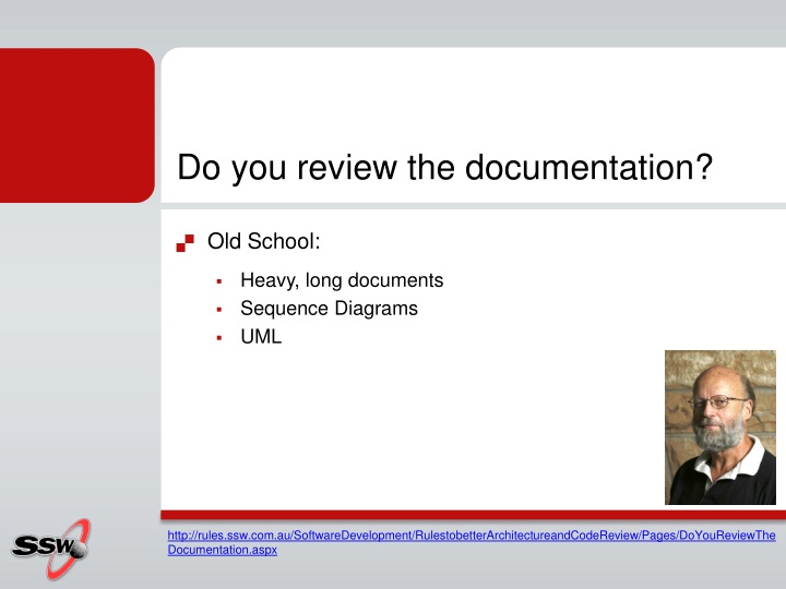 Do you review the documentation?