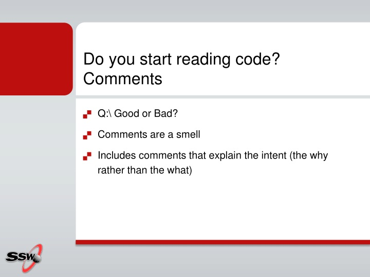 Do you start reading code