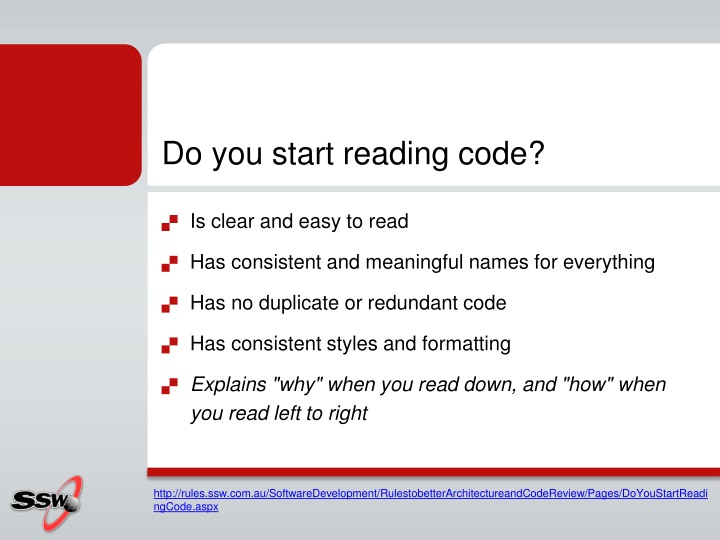 Do you start reading code?