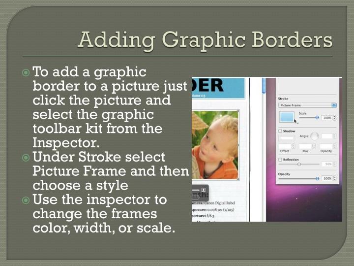 Adding Graphic Borders