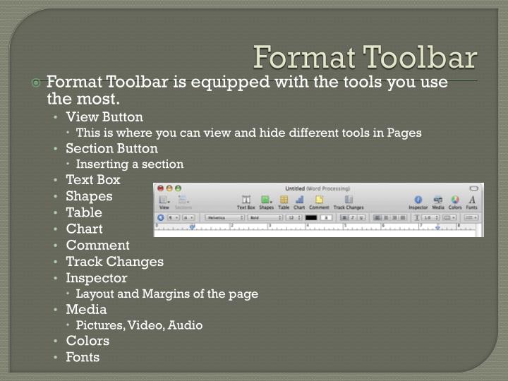 Format Toolbar